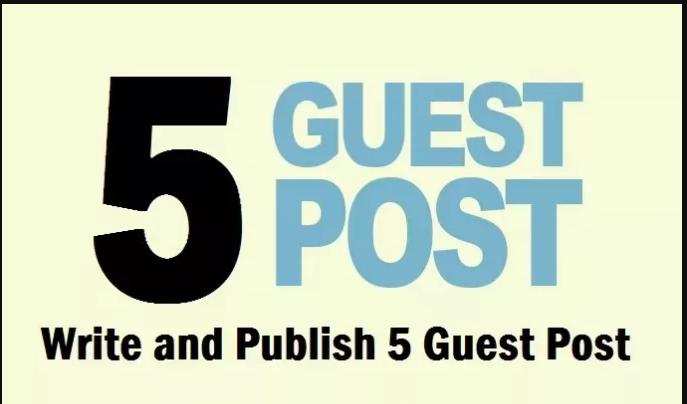 Write + publish 5 Top Dofollow website