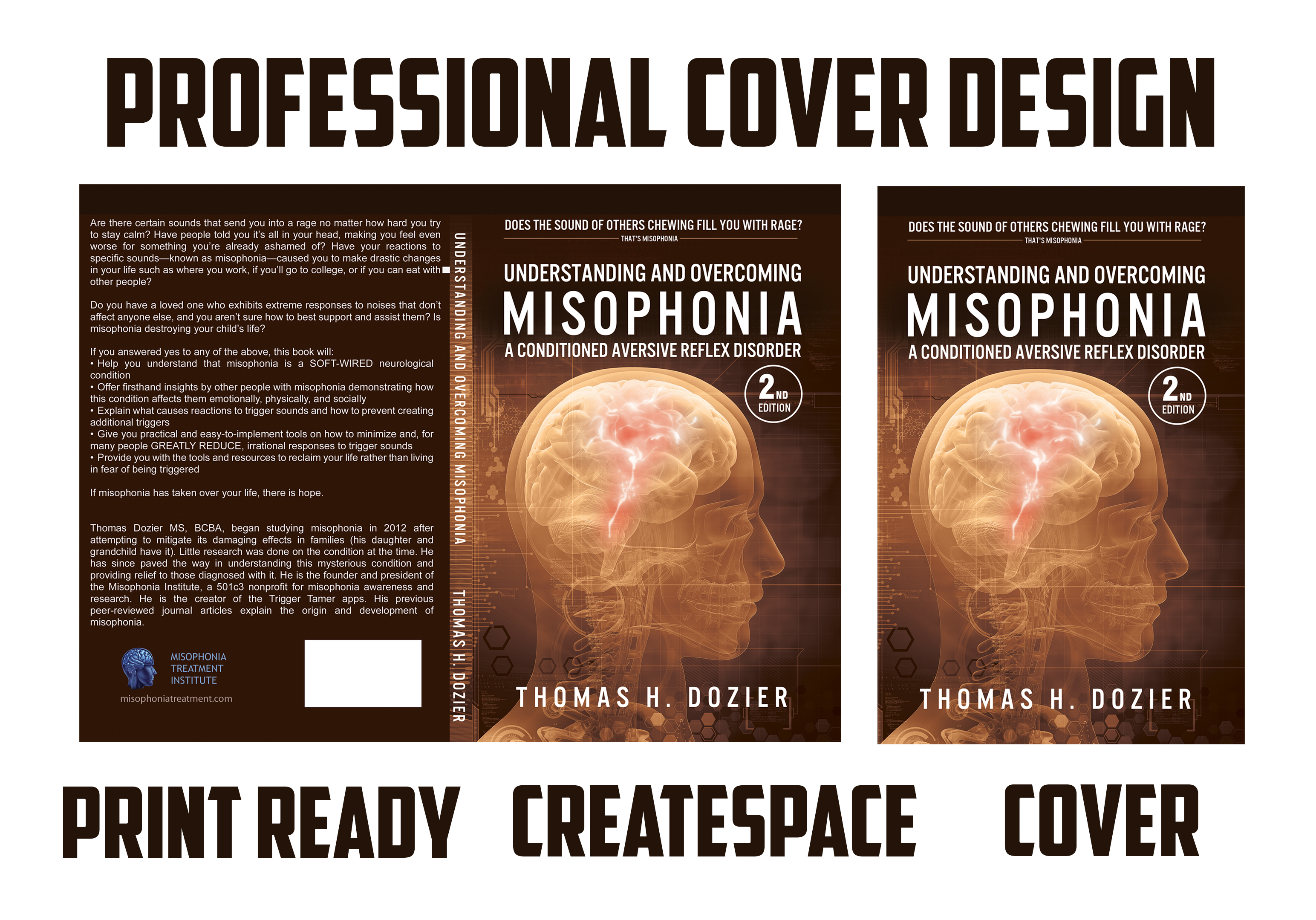Design and formating of createspace,  Kindle and Ebook covers.