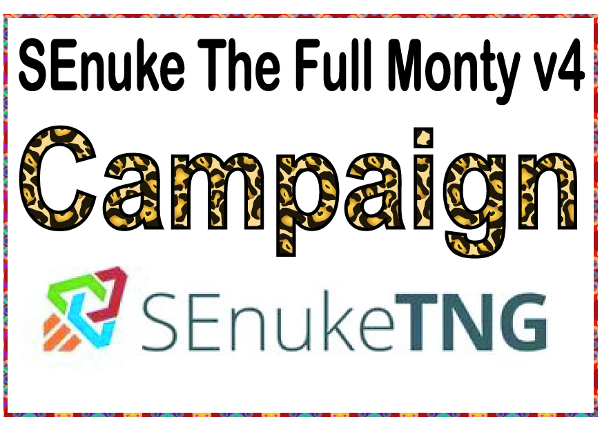 Do SEO to rank website PR higher with SEnuke - The full monty template V4