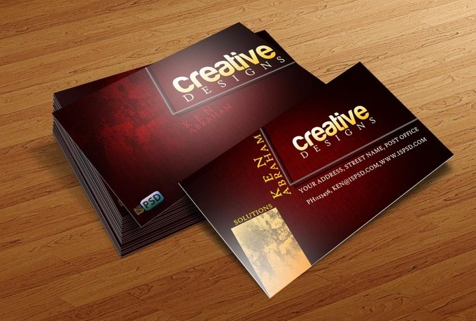 Design Business Card And Do 5 Realistic Mockups