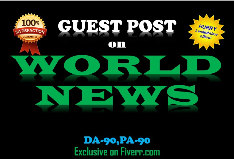 I Do Guest Post On World News wn PR8