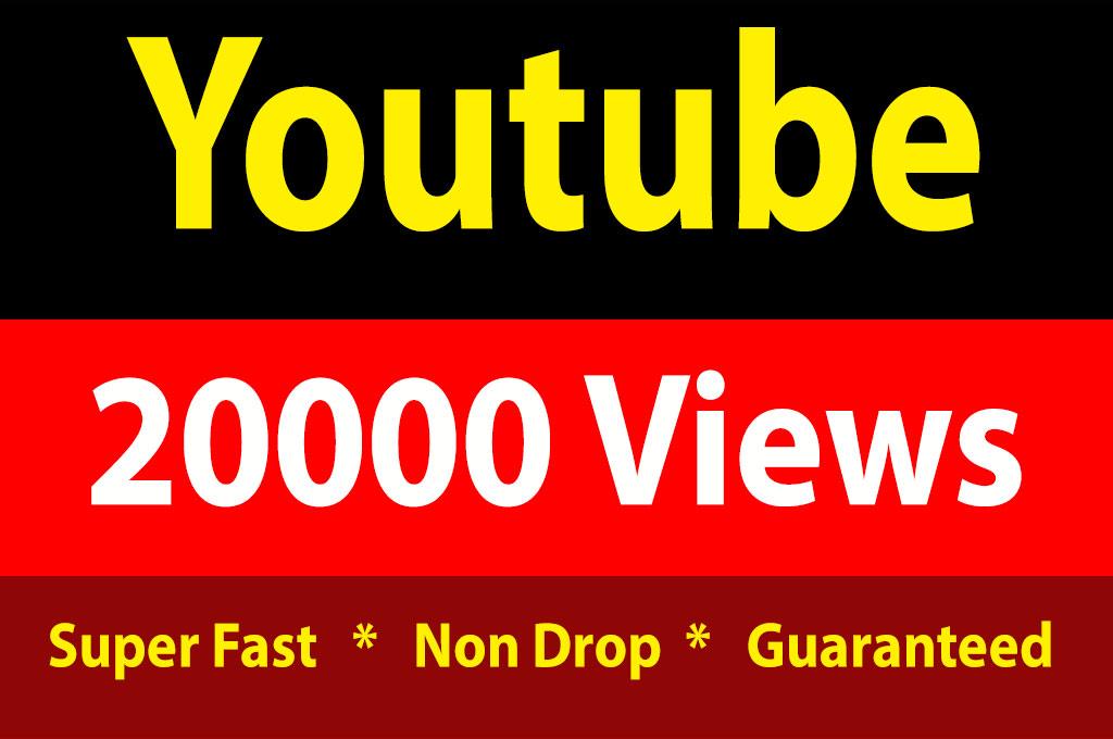 20000 High Quality Youtube Vieews Lifetime Guarantee