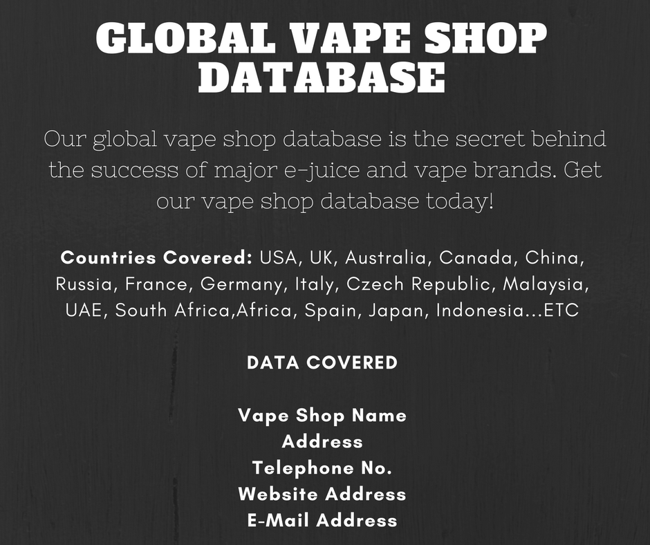 Give You Global Vape Shop Database