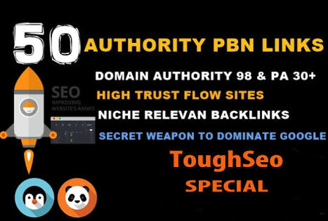 50 Permanent DoFollow High DA 90 PA 25-40 PBN Backlinks
