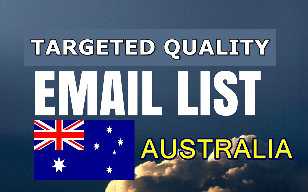 Unlimited niche targeted quality email lists Australia