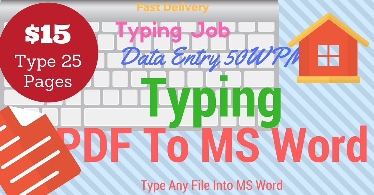 Type 25 Pages PDF to MS Word