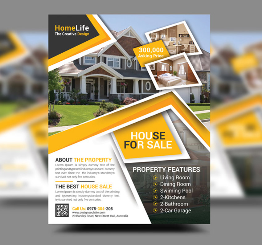 Design an elegant and great looking flyer leaflet and for Model agency apartments