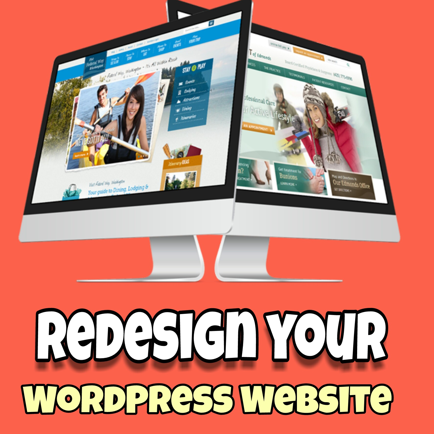 Design wordpress website professionally