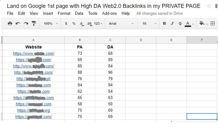 Land on Google 1st page with High DA Web2.0 Backlinks