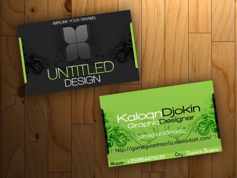 a professional 2 sided Business Card only