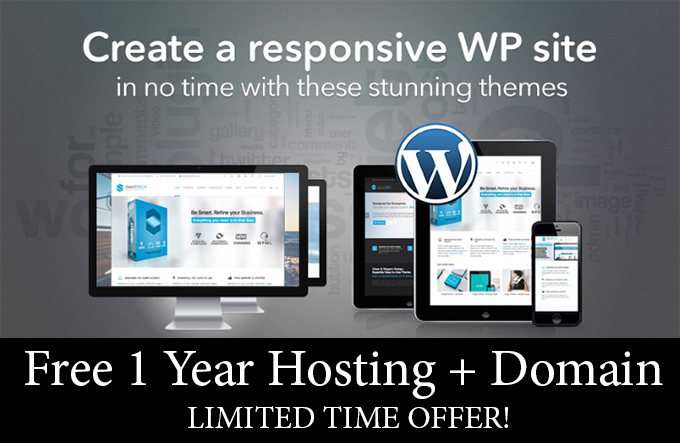 Impressive Wordpress Website Design with 1 Year Hosting Domain