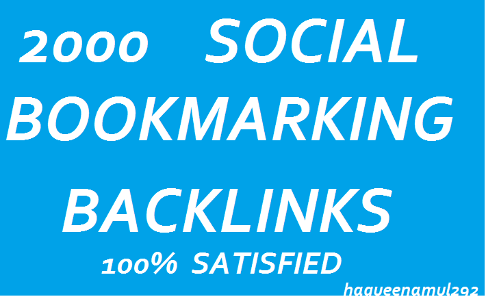 Provide Us 2000 Bookmarking Backlink Service