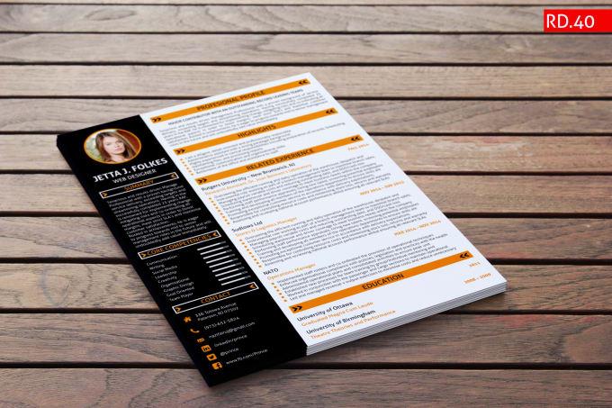 I can do attractive resume design, cv design, , cover letter