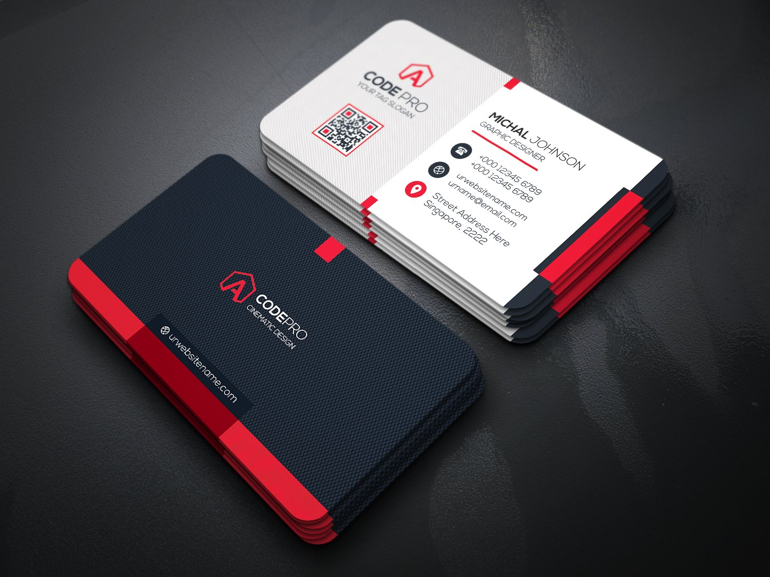 Design 2 Unique And Stunning Business Cards With Source