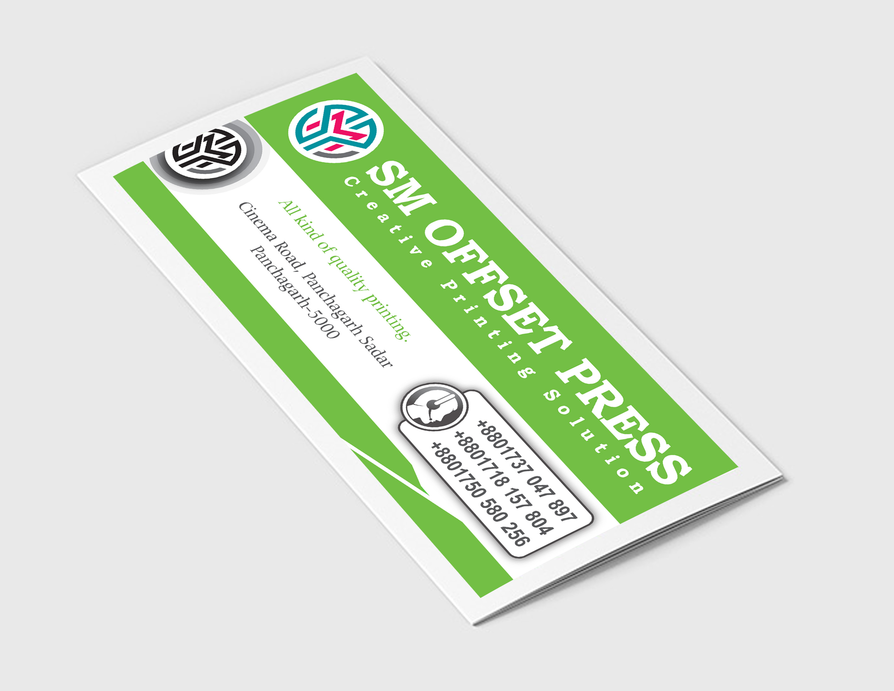 special delivery logo or banner or visiting card or brochure or