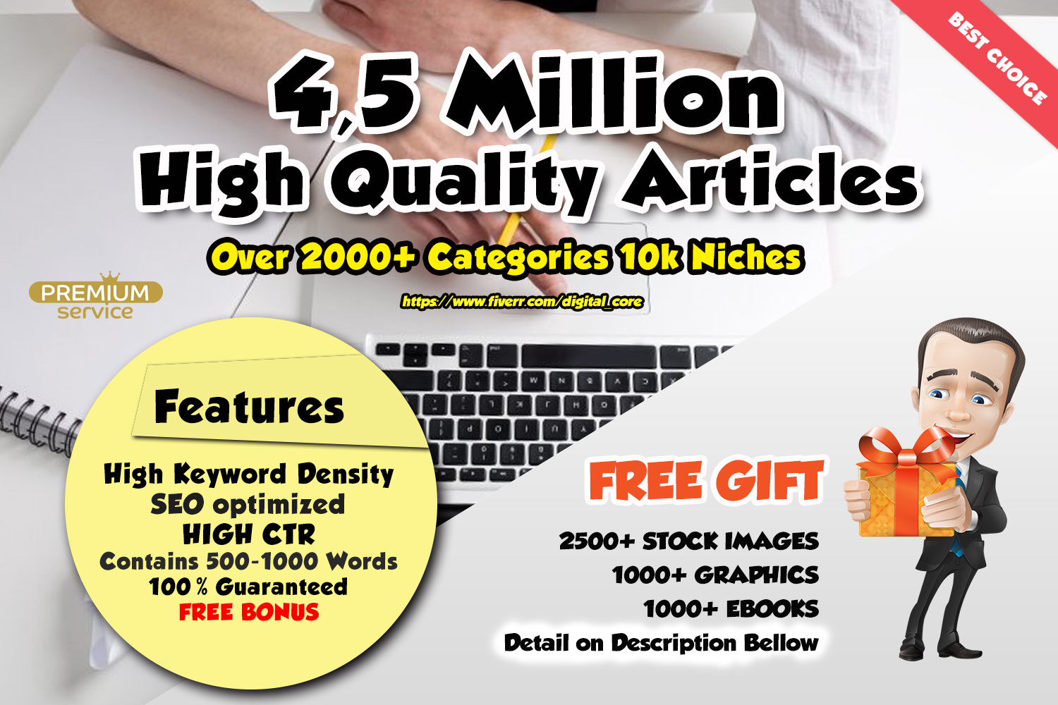 Provide You 4,5 Million HQ Articles and Wordai Account for 1 year