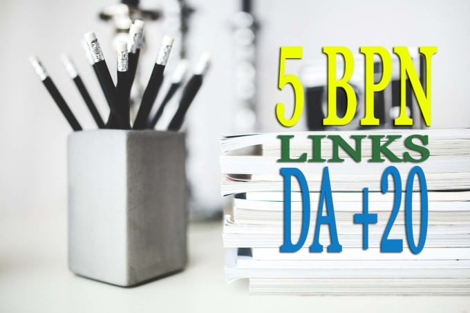 do 5 permanent pbn links,  from da 20 private blog network