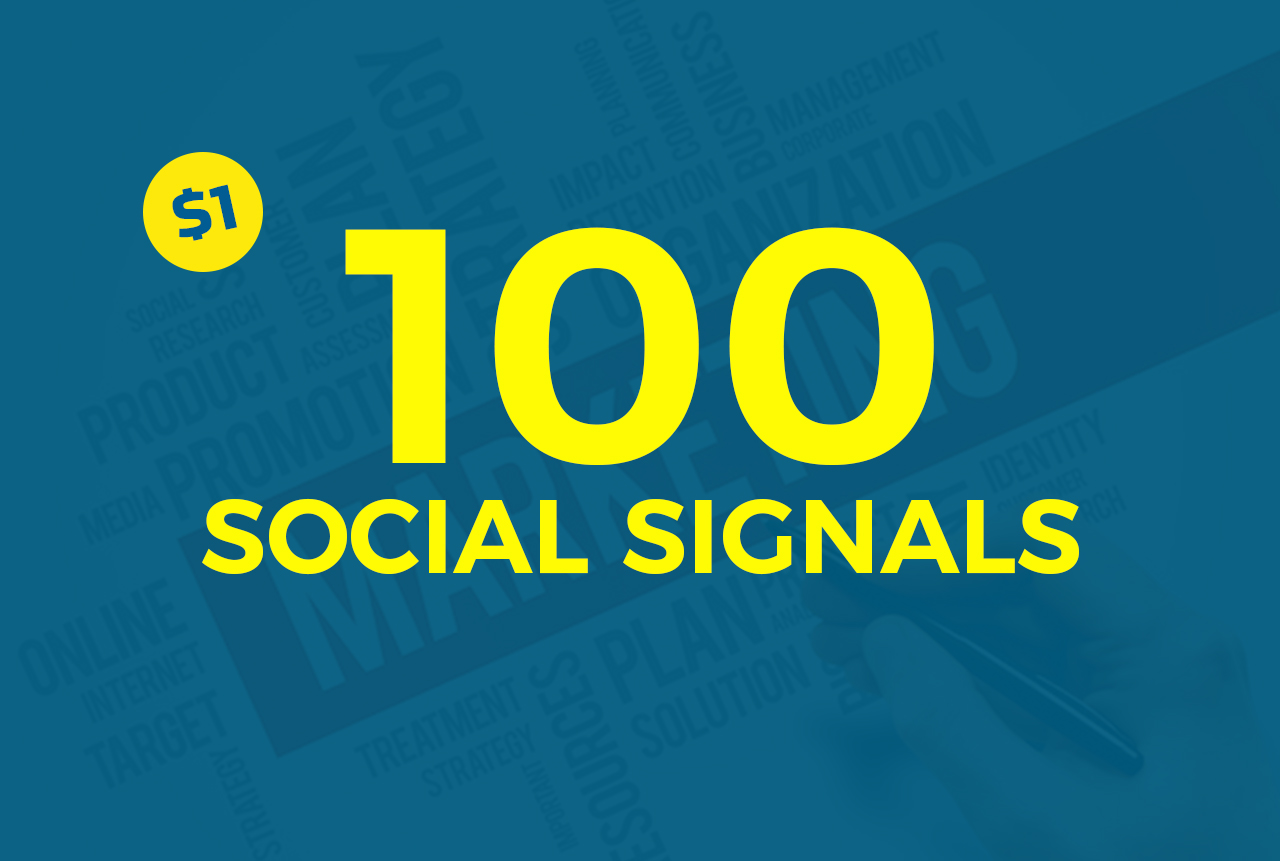 100 Social Signals white hat seo backlinks to social field