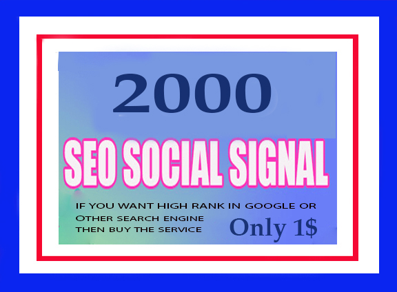 1000 Real And High Quality Social Signals