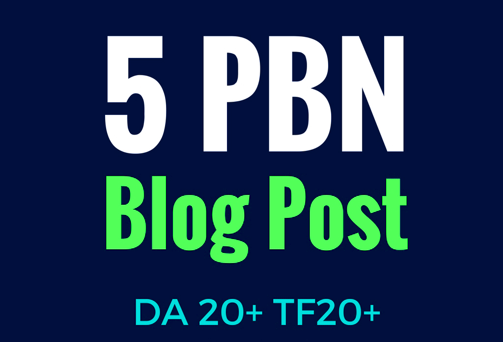5 Quality  PBN Backlinks with Unique Content - Manual PBN posts