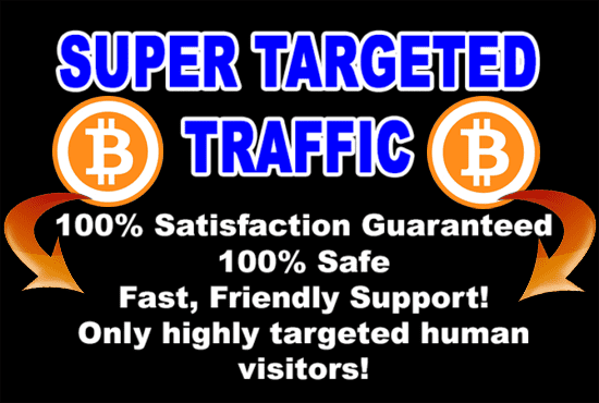 Drive super targeted bitcoin traffic to your site or blog