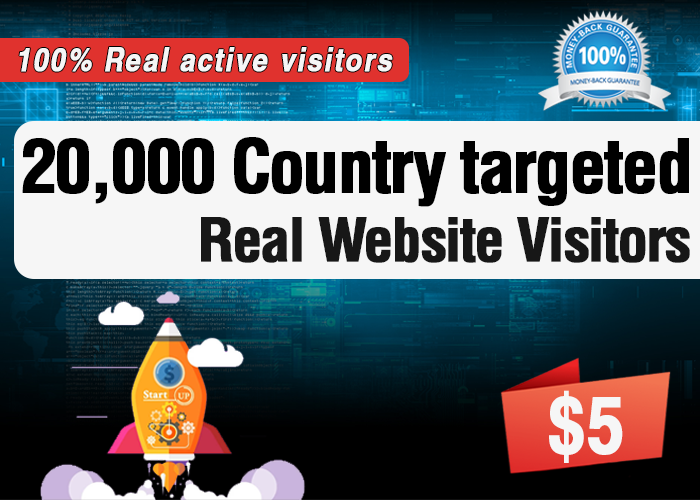 20,000 Targeted Real Human Visitors to your Website within 10 days