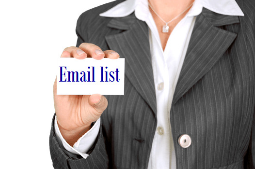 Provide Targeted Email List
