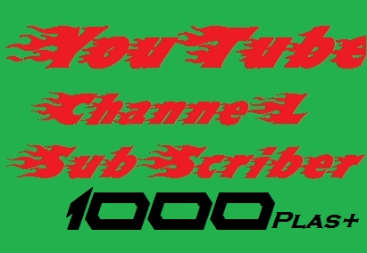 1000++You'tube subs'criber or 2200 You tube lik'es in completed super fast