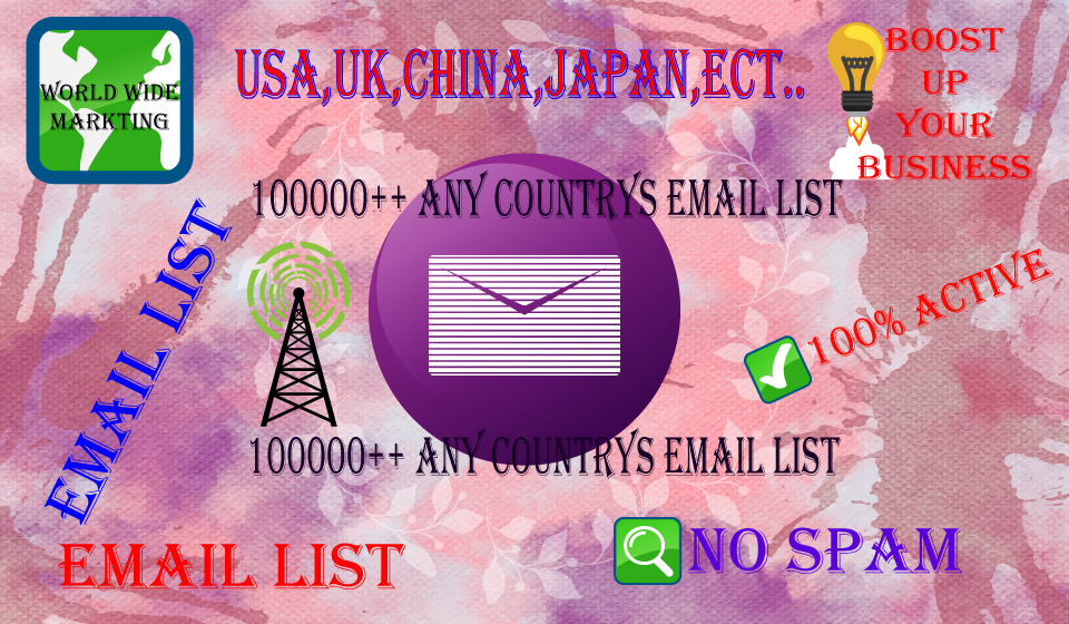 5000 Japan Email List Service