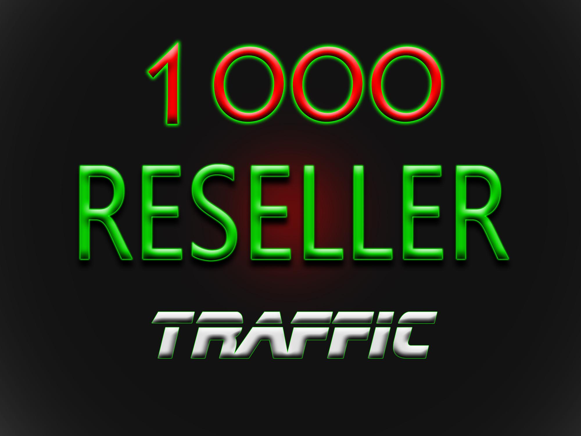 make you Web Traffic RESELLER 1000