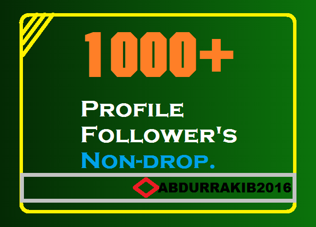 To Get_Instant 1000+ High-Quality Profile Follower's safe just