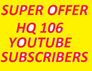 Buy The Offer 106 Non-Drop YouTube Subscribers