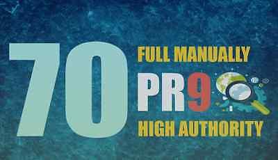 70 High PR dofollow backlinks plus one EDU Authority *IMPROVED*
