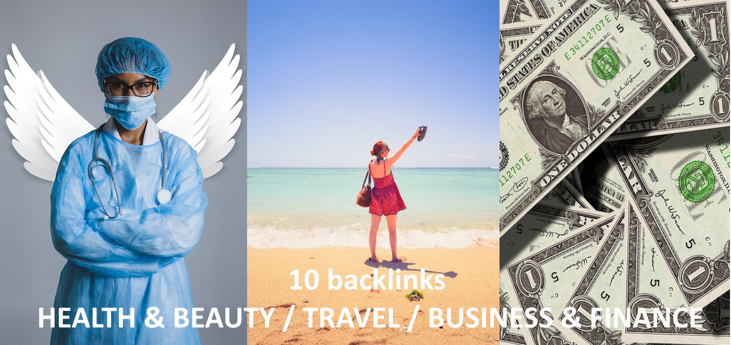I give you 5 backlinks niche health travel business