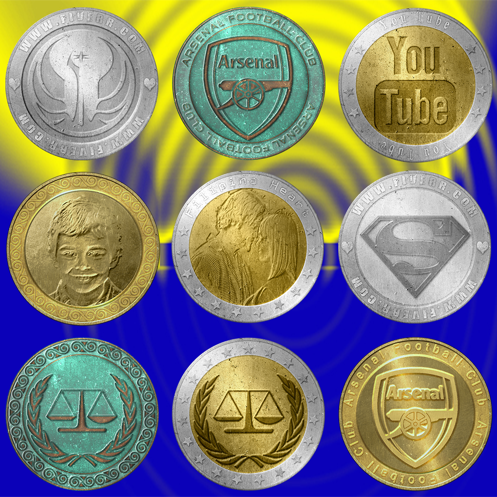 Your Photo Or Logo On Coin
