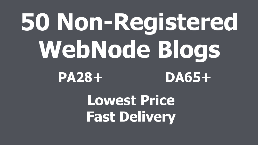 BEST PRICE - 50 Non-Registered Expired WebNode Blogs