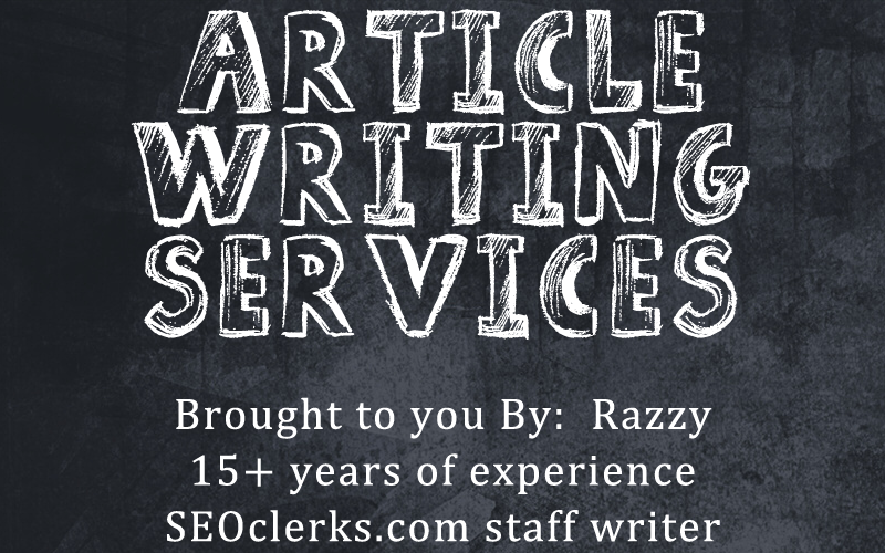 Article writing service by an SEOclerks staff member