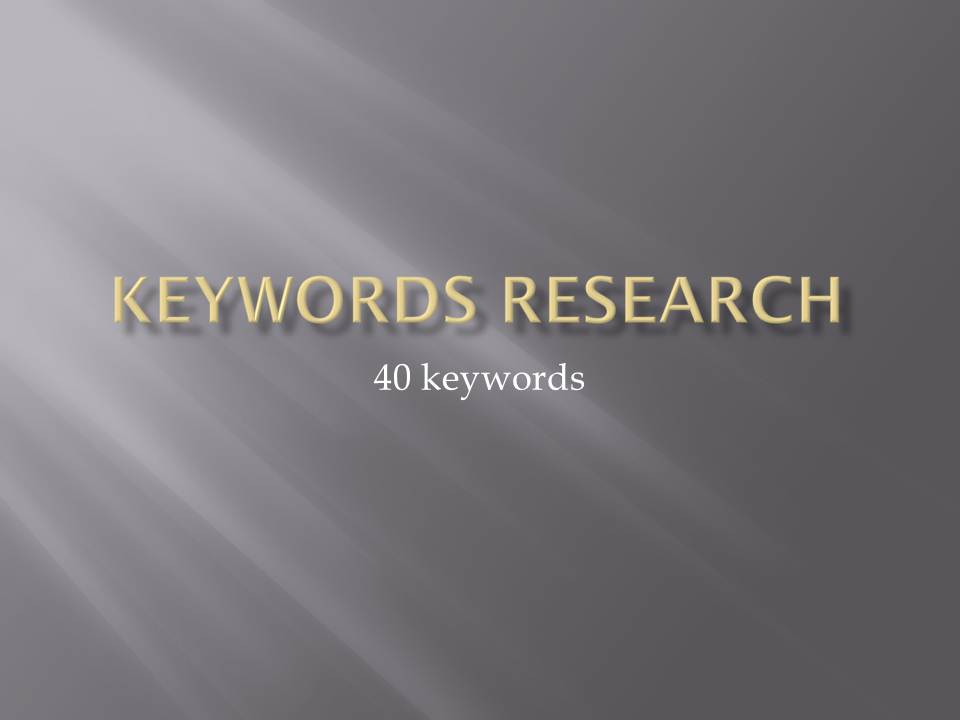 40 profitable keyword research