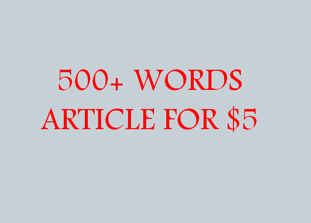 500+ Words Quality Article