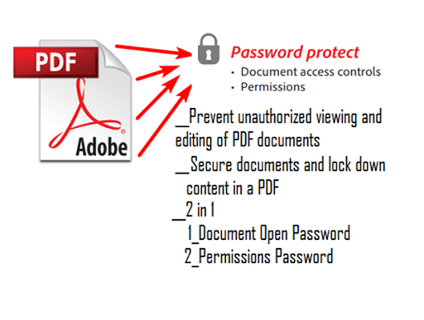 password protect your pdf file with 2 level.