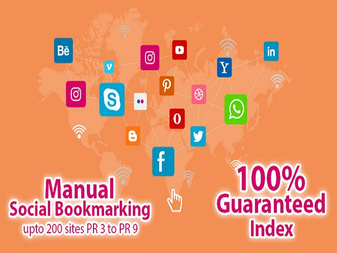 Do Manual Social Bookmarking up to 200 Sites PR 9 To 3