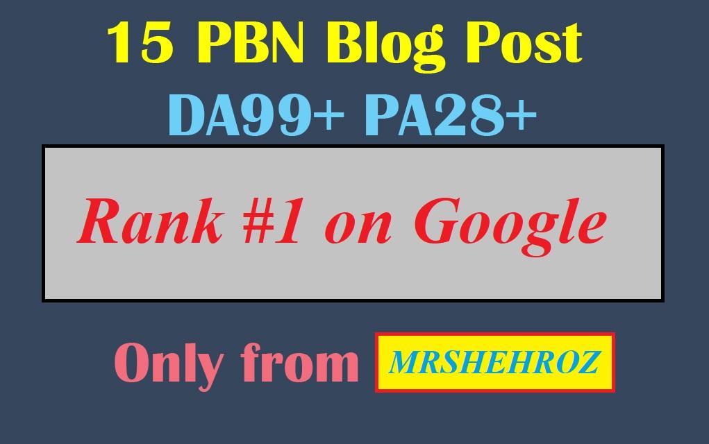 PBN Backlinks 15 posts High DA & pa
