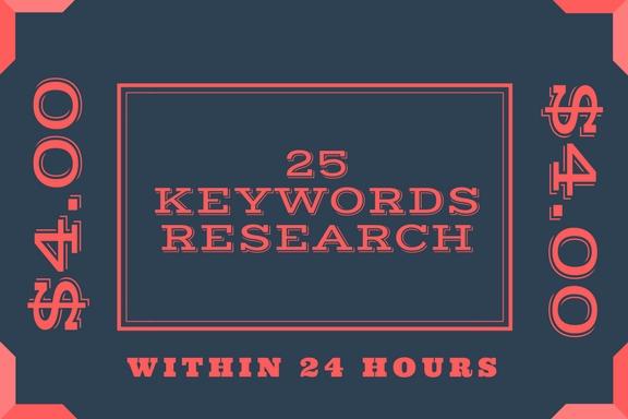 Do 25 profitable keyword research