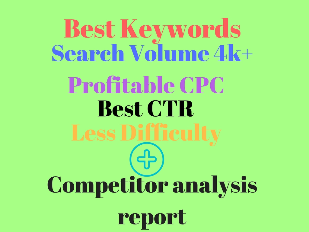 100  top keywords for (1-5) niche