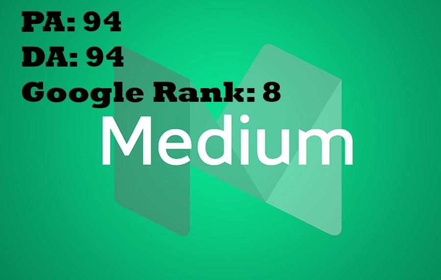 Permanent Blog Post On Medium. com DA94,  PA94, Google Rank 8
