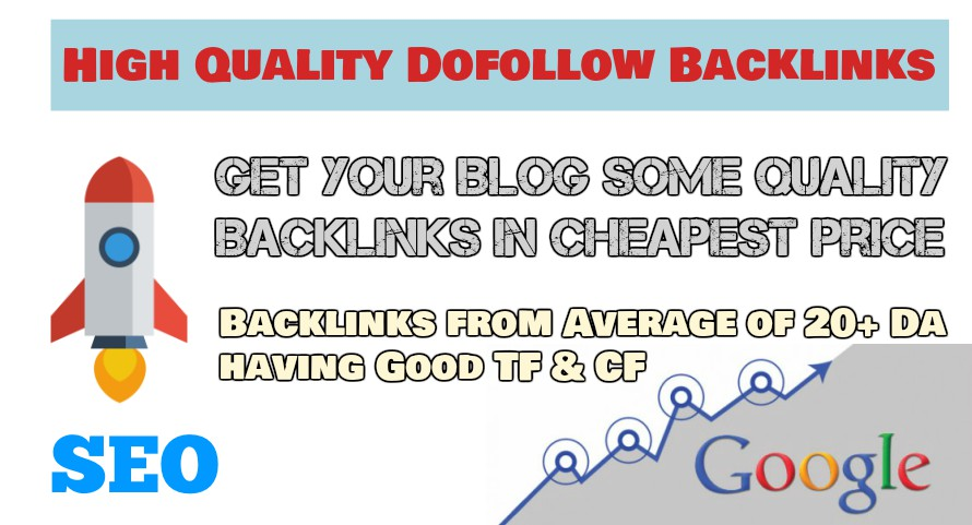 High Quality Dofollow Backlinks + Social Signal to Rank your Blogs