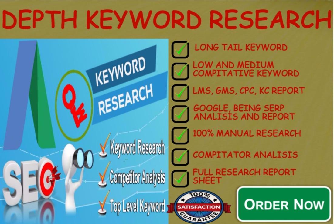 professionally Run In Depth Keyword Research Manually