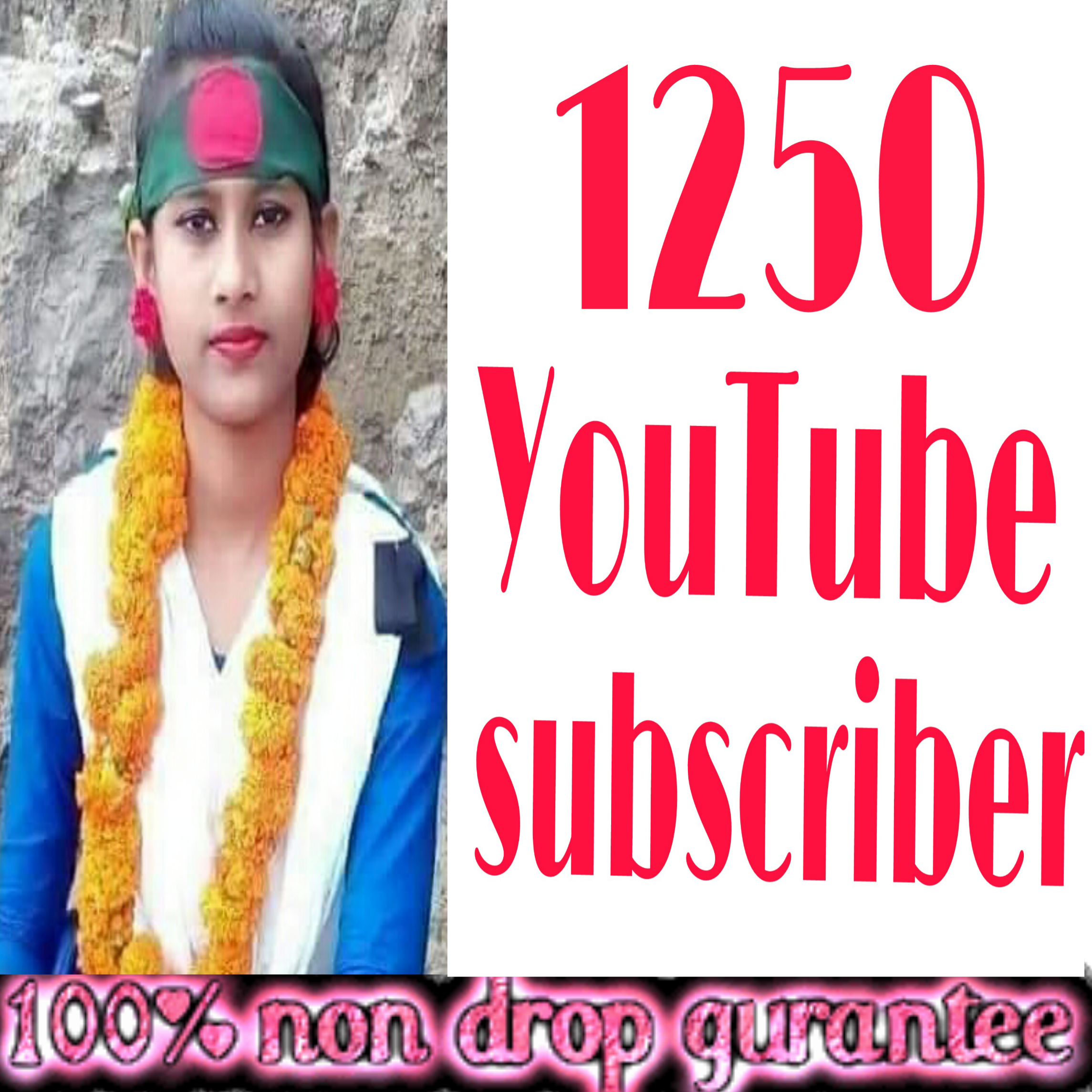 Instant Add safe 1250 YouTube channel subscriber non drop Guaranteed  super fast in 2-8 hours