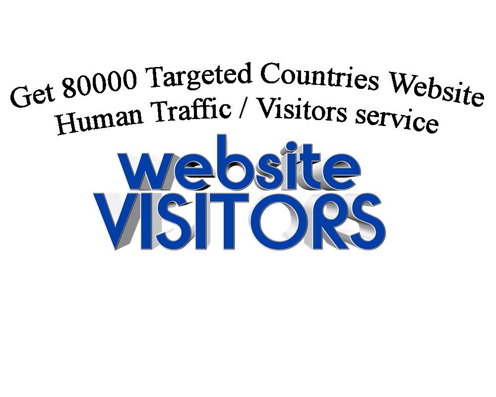 Get 80000 Targeted Countries Website Human Traffic / Visitors service.