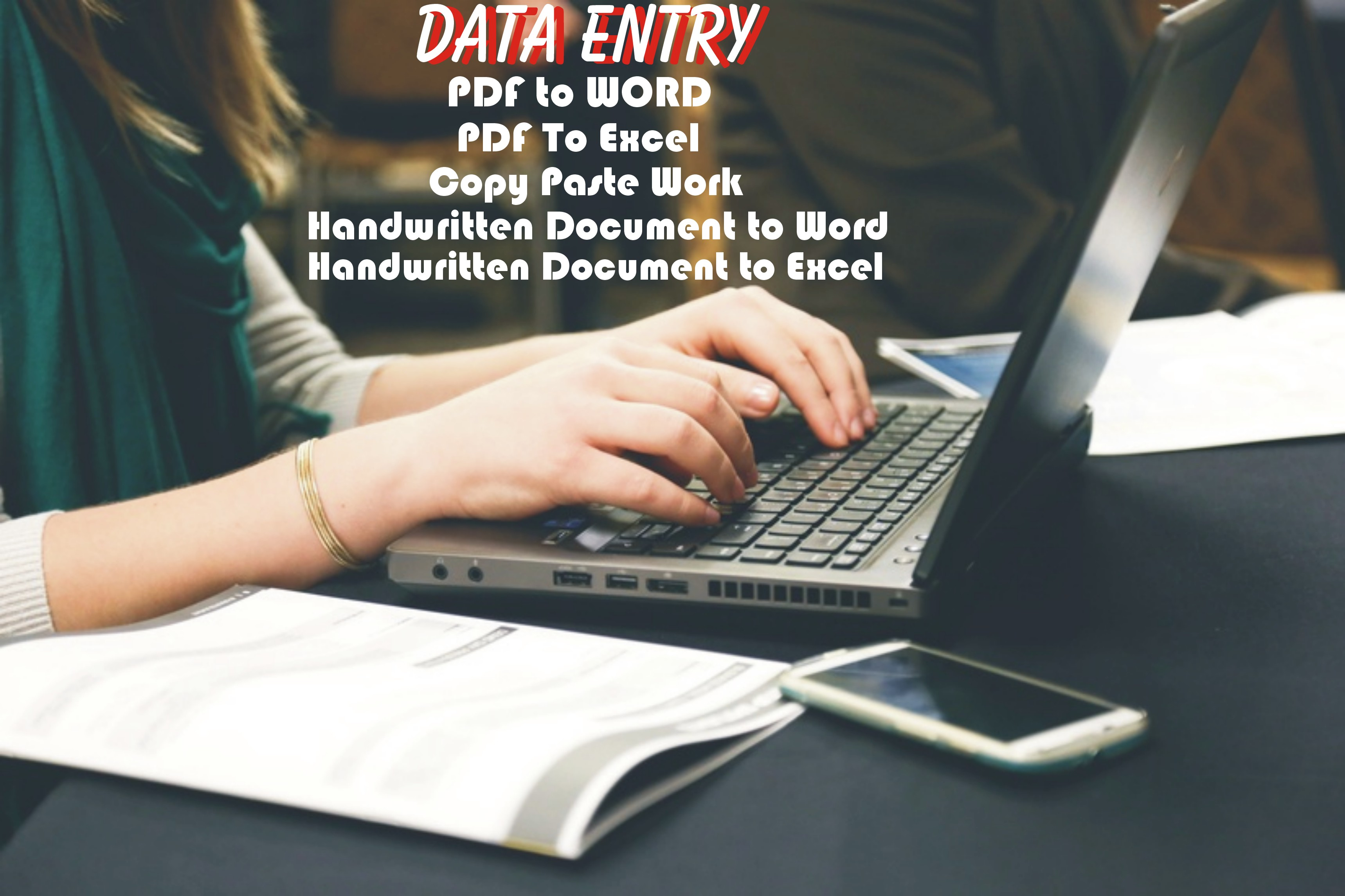 Data Entry Pdf, Excel, Word, Copy Paste, data Entry Online Or Offline